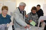 пос. Новоселье Голосование избирателей на избирательном участке № 632