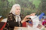 Гостилицы. Голосование на дому. Нина Ильинична Сбруева, ветеран войны, 92 года