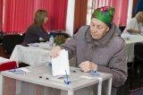 дер. Гостилицы. Голосование избирателей на избирательном участке № 640